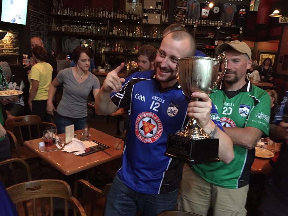 Sean Davis with the Willamette Cup
